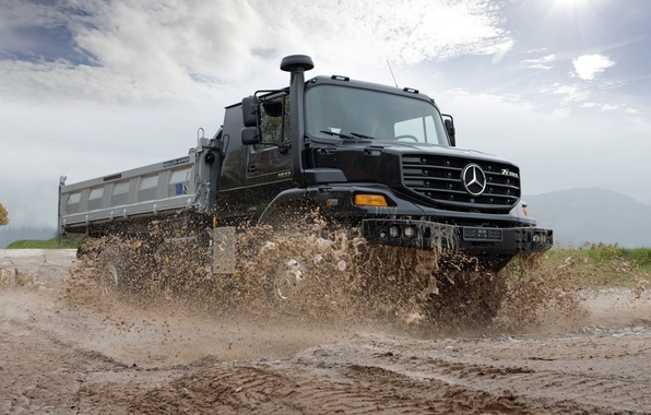 Picture machine, dirt, truck, road, zetros, off