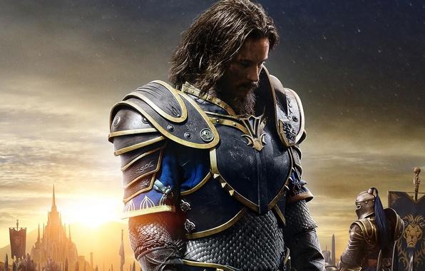 Picture cinema, battlefield, flame, logo, fantasy, game, star, Warcraft, Blizzard, armor, sky, war, cloud, lion, man, ...