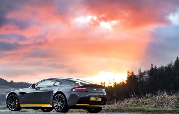 Picture car, machine, sunset, photo, Aston Martin, Aston Martin, wallpaper, V12, Vantage S, Sport-Plus Pack