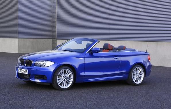 Picture Auto, Blue, BMW, Boomer, Convertible, Asphalt, 135i