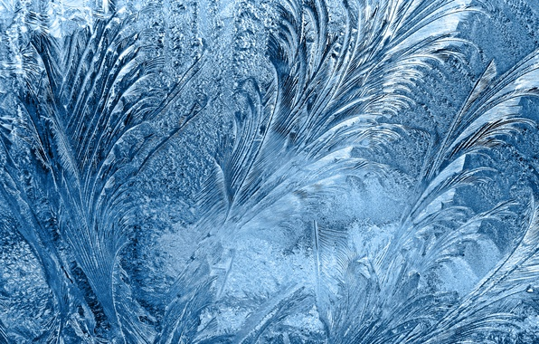 Picture glass, frozen, frosted