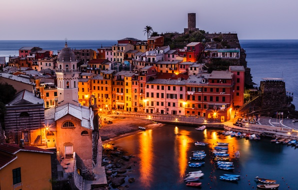 Picture coast, building, Italy, panorama, Italy, Vernazza, Vernazza, Cinque Terre, Cinque Terre, Liguria, Liguria, Gulf of ...