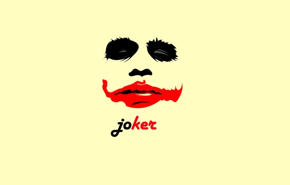 Picture red, background, Joker, Wallpaper, black, black, Joker
