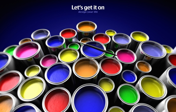 Picture color, creative, paint, mood, minimalism, brush, banks, words, wallpapers