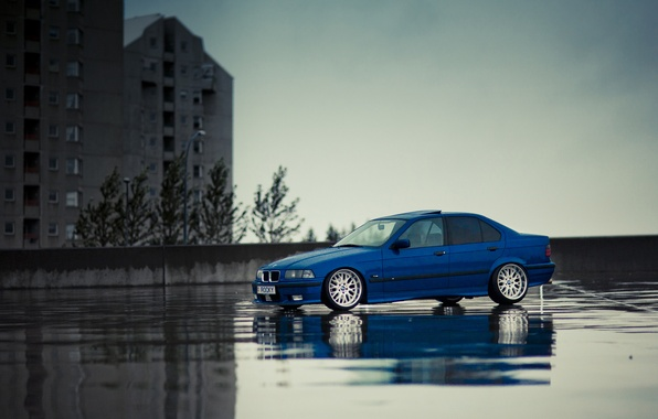 Picture tuning, bmw, BMW, blue, stance, E36
