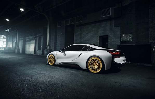 Picture BMW, Car, Touring, Gold, Vossen, Wheels, Rear