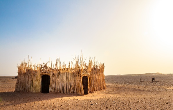 Picture nature, desert, hut, Morocco, the Western Sahara Desert