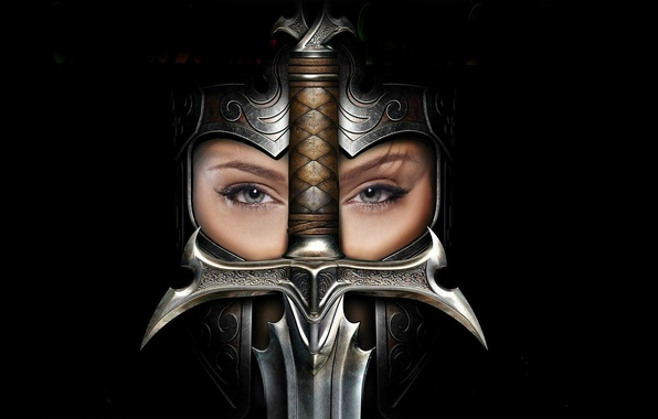 Picture girl, sword, helmet, The Cult: Kingdom Of Heresy