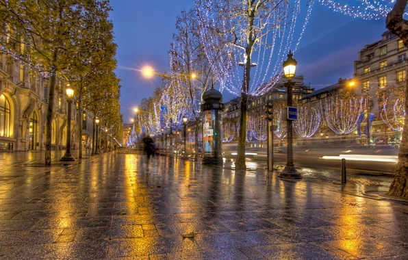 Picture road, lights, Wallpaper, street, Paris, France, paris, France, wallpapers