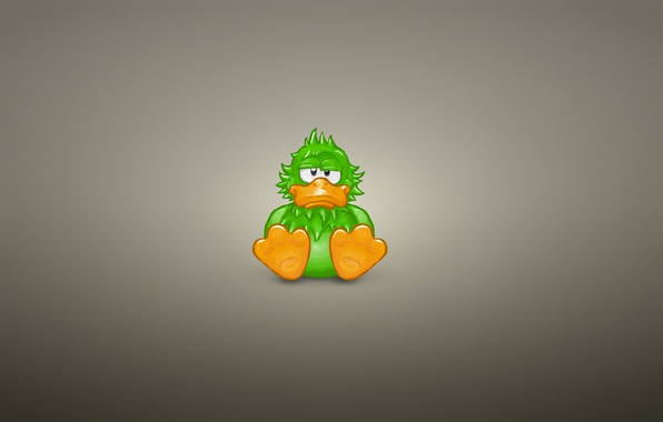 Picture animal, minimalism, sitting, green, duck, duck