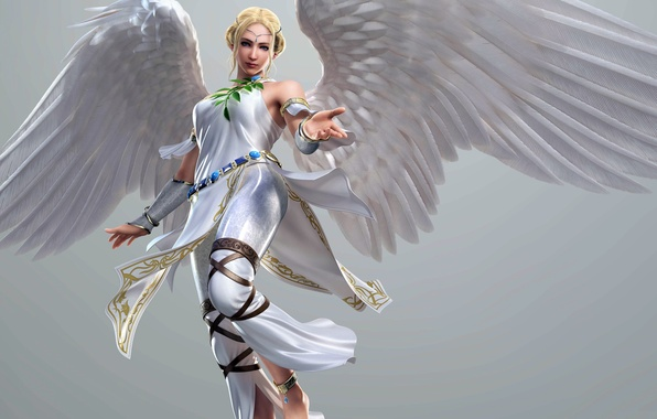 Picture BLONDE, GIRL, WINGS, ANGEL, Tekken Tag Tournament