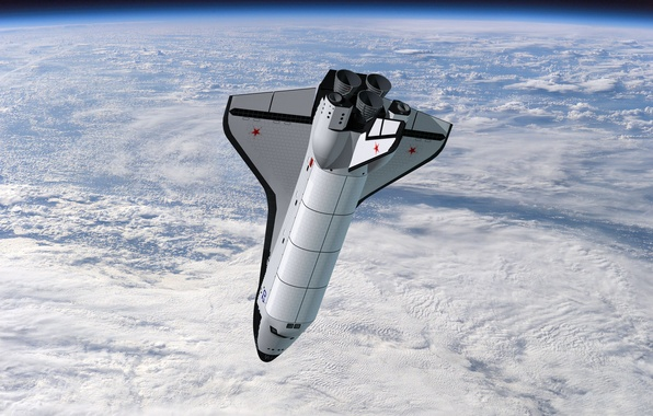Picture space, aviation, Earth, USSR, Buran
