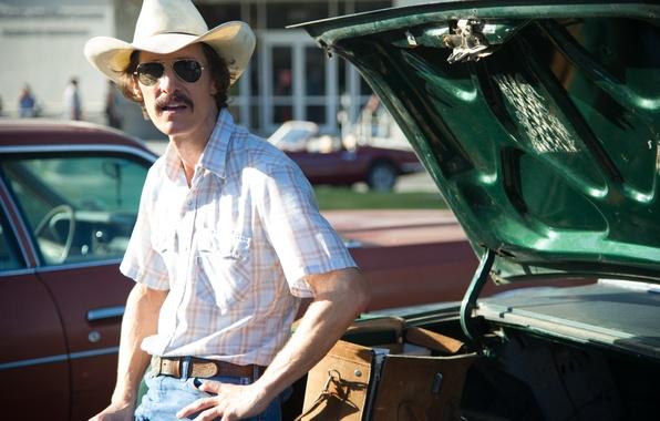 Picture auto, the film, hat, glasses, male, drama, Matthew McConaughey, biography, Dallas buyers club, Matthew McConaughey, …