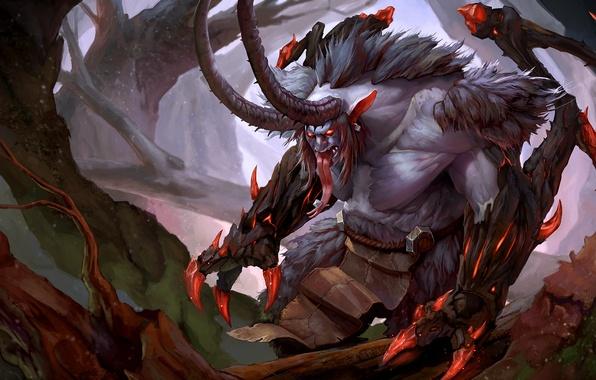 Wallpaper The Demon Wow World Of Warcraft Legion Satyr
