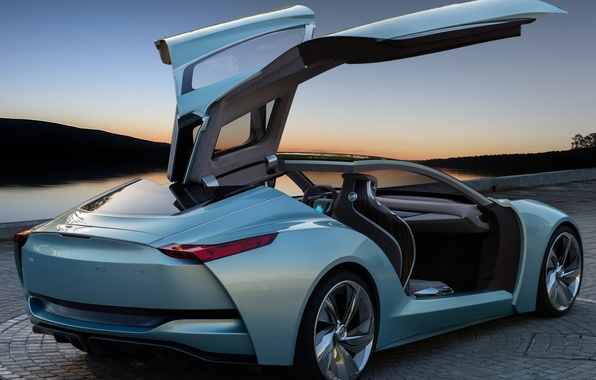 Picture machine, Concept, the sky, open doors, the gullwings, Riviera, Buick