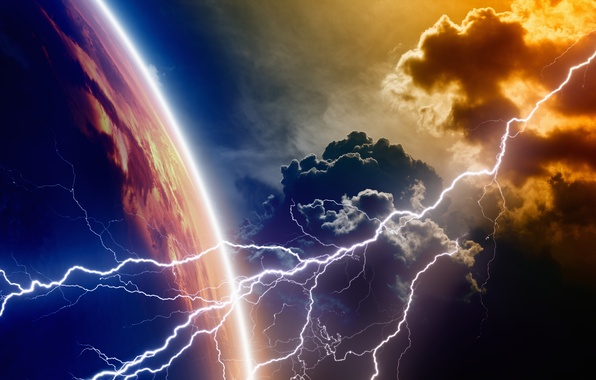 Picture lightning, energy, planet, atmosphere