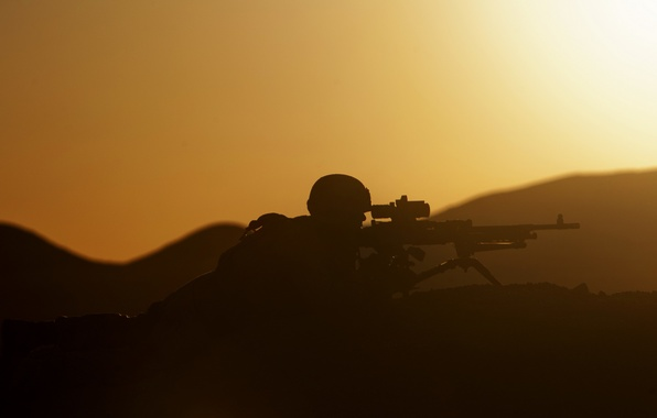 Picture military, marine corps, Sunset Security