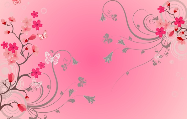 Picture butterfly, flowers, background, flowers, background, butterflies