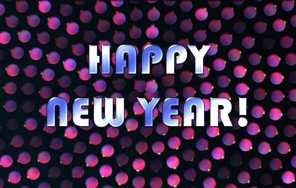Picture balls, text, background, color, New year, Holiday, Wallpaper. New year