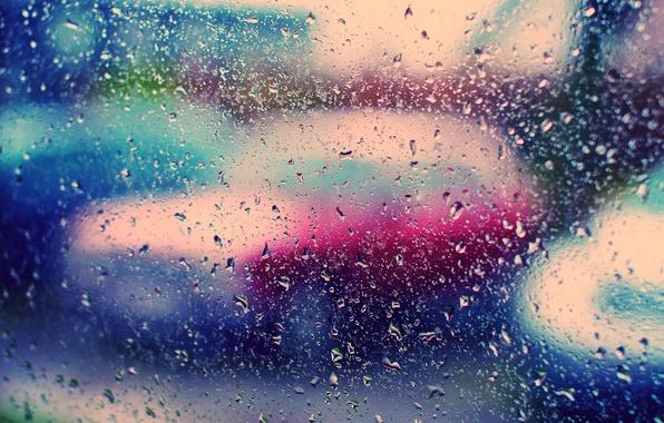 Picture glass, color, drops, rain, Wallpaper, bright, wallpapers