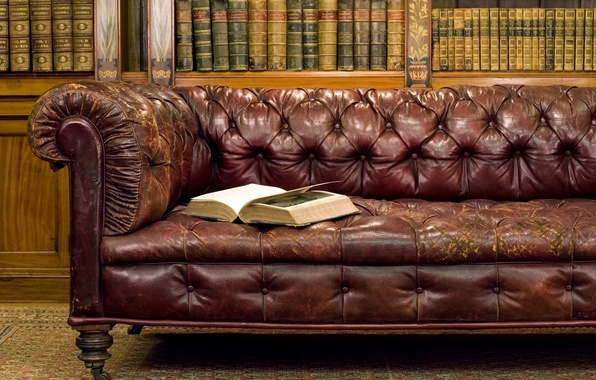 Picture old, style, sofa, books, book, library, Antiques