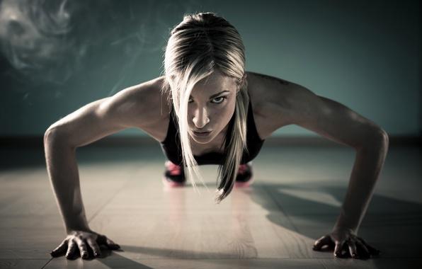 Photo wallpaper fitness, pushups, exercise