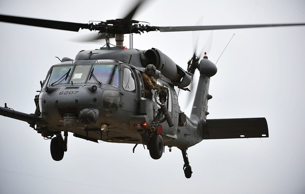 Picture flight, the plane, Japan, helicopter, soldiers, machine gun, BBC, HH-60G, Pave Hawk, pilot, Okinawa, rescue, …
