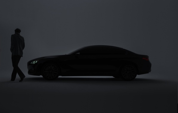 Picture machine, people, BMW, auto, 1920x1200, walls, BMW gran coupe