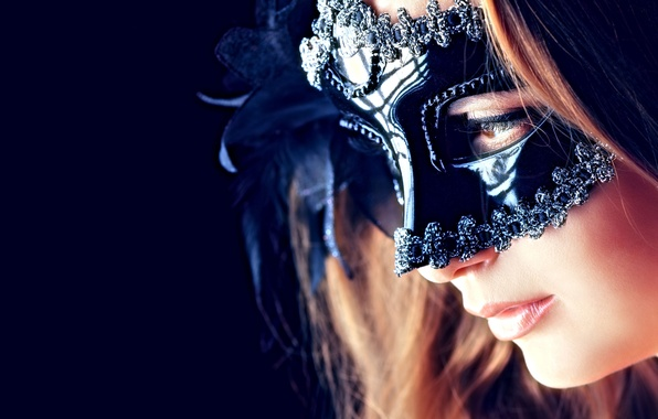 Picture sexy, woman, eyes, lips, mask