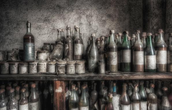 Picture background, bottle, banks