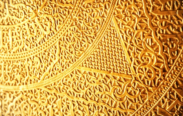 Picture gold, pattern, gold, gold, plexus, weave, runes, ancient, script