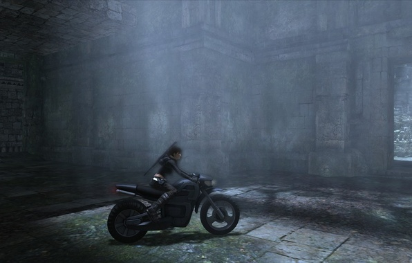 Picture Girl, motorcycle, screenshot, Tomb Raider