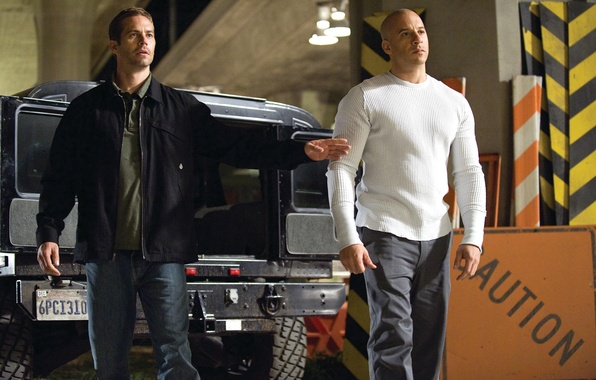 Picture VIN Diesel, Paul Walker, Vin Diesel, Paul Walker, Dominic Toretto, Brian O'Conner, The fast and …