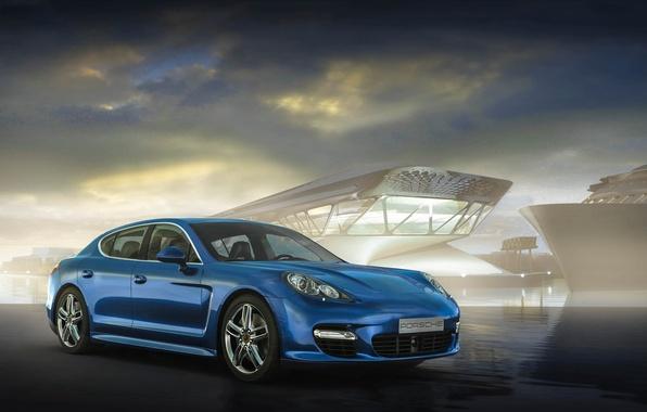 Picture Porsche, Panamera, blue