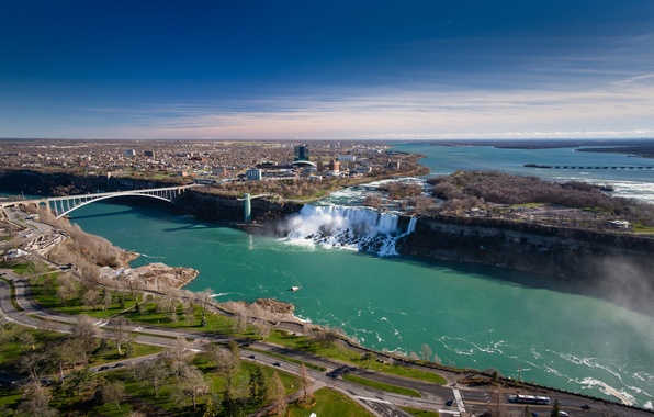 Picture bridge, river, Canada, panorama, Ontario, Niagara falls