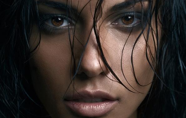 Picture look, hair, lips, brown eyes