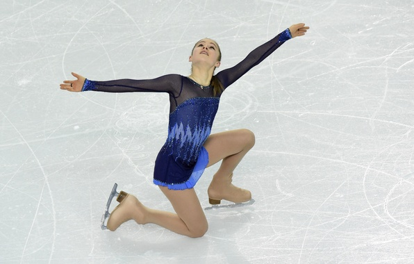 Picture look, ice, hands, figure skating, Russia, cross, ponytail, skates, RUSSIA, Sochi 2014, The XXII Winter …