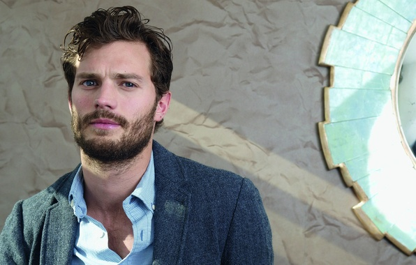 Photo wallpaper British, Jamie Dornan, musician, movie, Once Upon a Time, beard, texture, book, actor, Christian Grey, ...