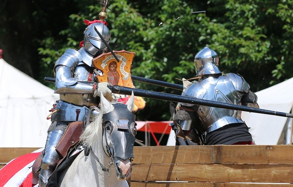 Picture metal, horse, horse, armor, knights, tournament