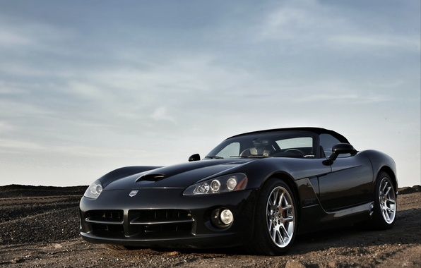 Picture style, black, lights, tuning, drives, Dodge Viper, American, double, sports car, Dodge Viper