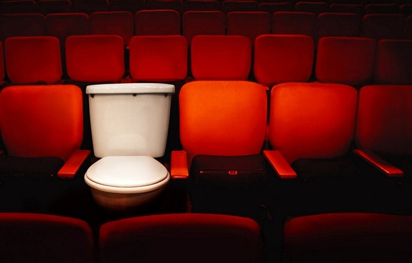 Picture cinema, the toilet, seat