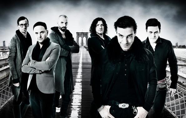 Picture group, Germany, ring, chain, strap, jacket, Rammstein, grin, men, Till Lindemann, Oliver Riedel, Till Lindemann, …