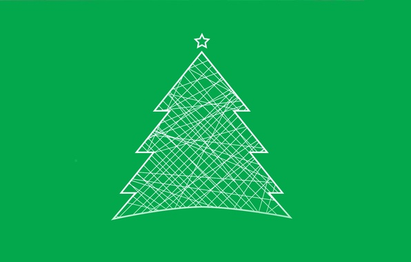 Photo Wallpaper Tree Christmas Minimalism