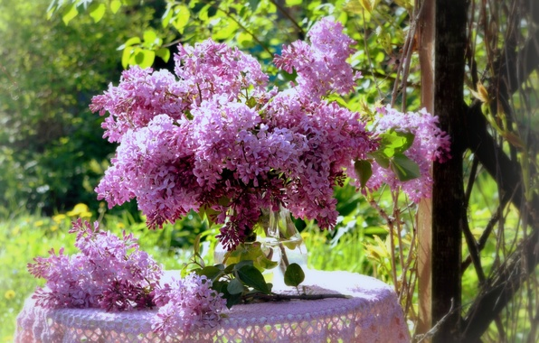 Picture bouquet, spring, lilac