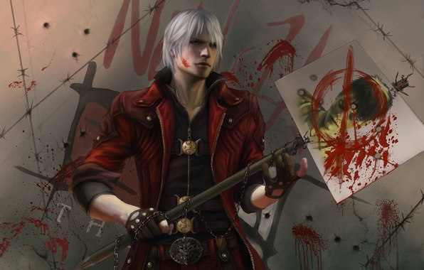 Picture game, weapons, Wallpaper, Dante, DMC, Dante, game wallpapers, Devil may cry 5, new version, sword-transformer, …