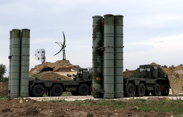 Picture large, system, Triumph, S-400, anti-aircraft, Russian, rocket, range, and the average