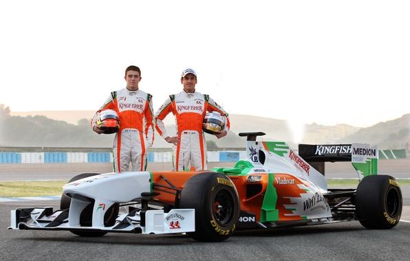 Picture Formula 1, the car, Formula 1, Force India, Force India, P. Di Resta, Andrian Sutil