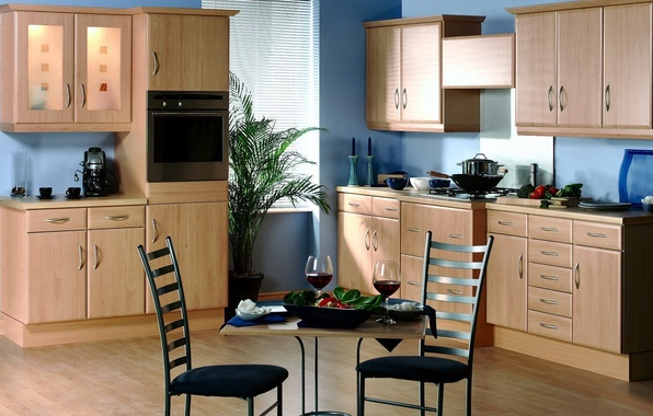 Picture design, style, table, room, furniture, chairs, interior, kitchen