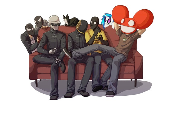 Picture Daft Punk, thomas bangalter, deadmau5, Guy-Manuel de Homem-Christo, Joel Thomas Zimmerman