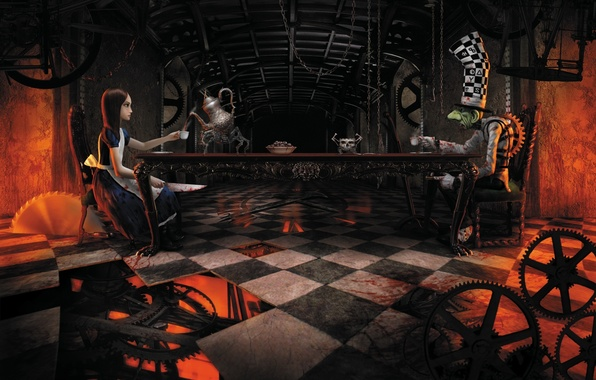 Picture Alice, Alice, Hatter, American McGee's Alice, The dial, Mad Hatter, Mad tea party